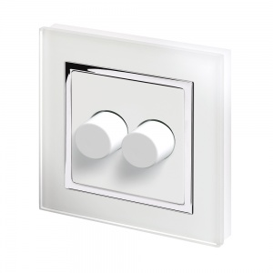 Crystal CT 2G Rotary LED Dimmer Switch 2 Way White